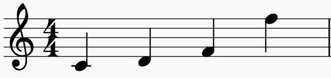 les intervalles en musique